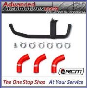 Subaru Impreza Modine Oil Cooler Cross Over Pipe & Samco Water Hose Kit In Red
